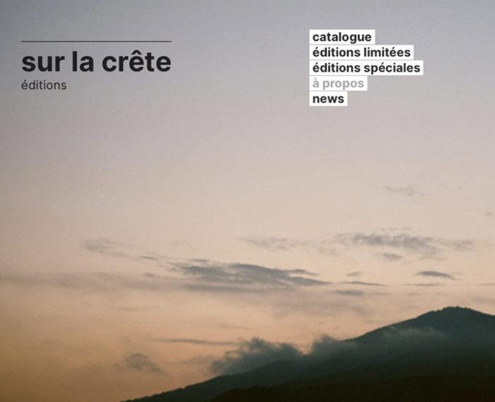 Éditions Sur La Crête — Pôle Arts Visuels Pays de la Loire