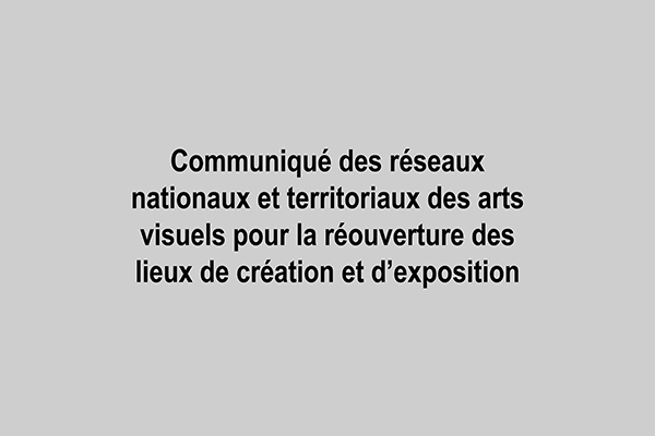 Communiqué — Pôle Arts Visuels Pays de la Loire